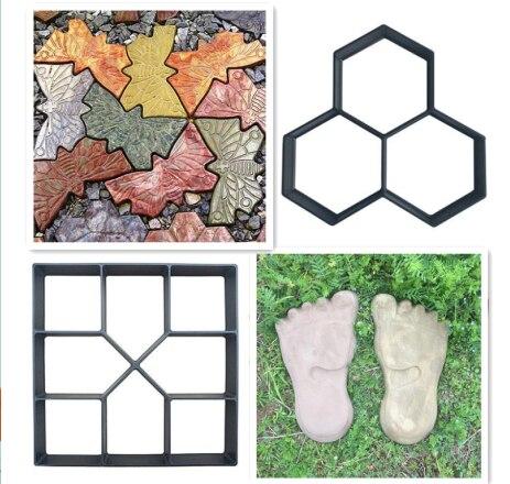 Manualmente pavimentación de ladrillos de cemento de hormigón moldes de jardín de plástico molde para construir pavimentos jardín Camino de piedras molde decoración de jardín