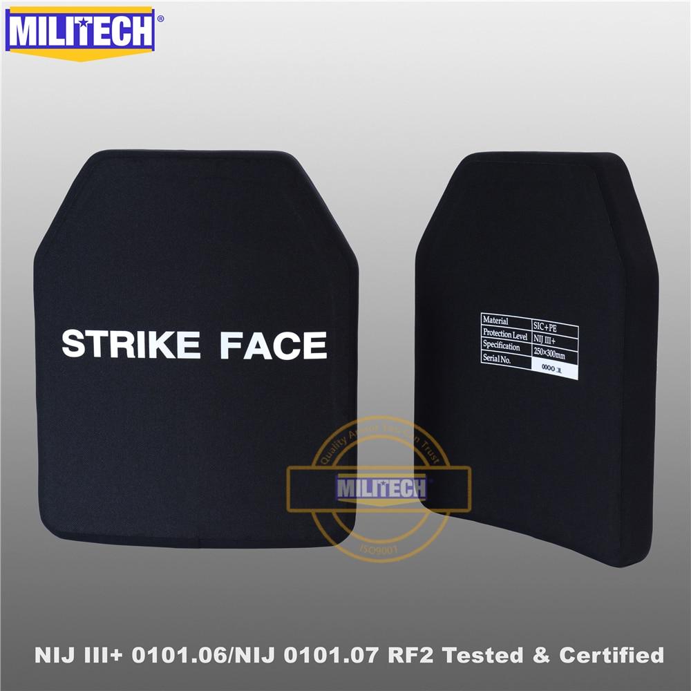 لوحة عسكرية سيك و بي مضادة للرصاص NIJ المستوى 3 + III + /NIJ 0101.07 RF2 10