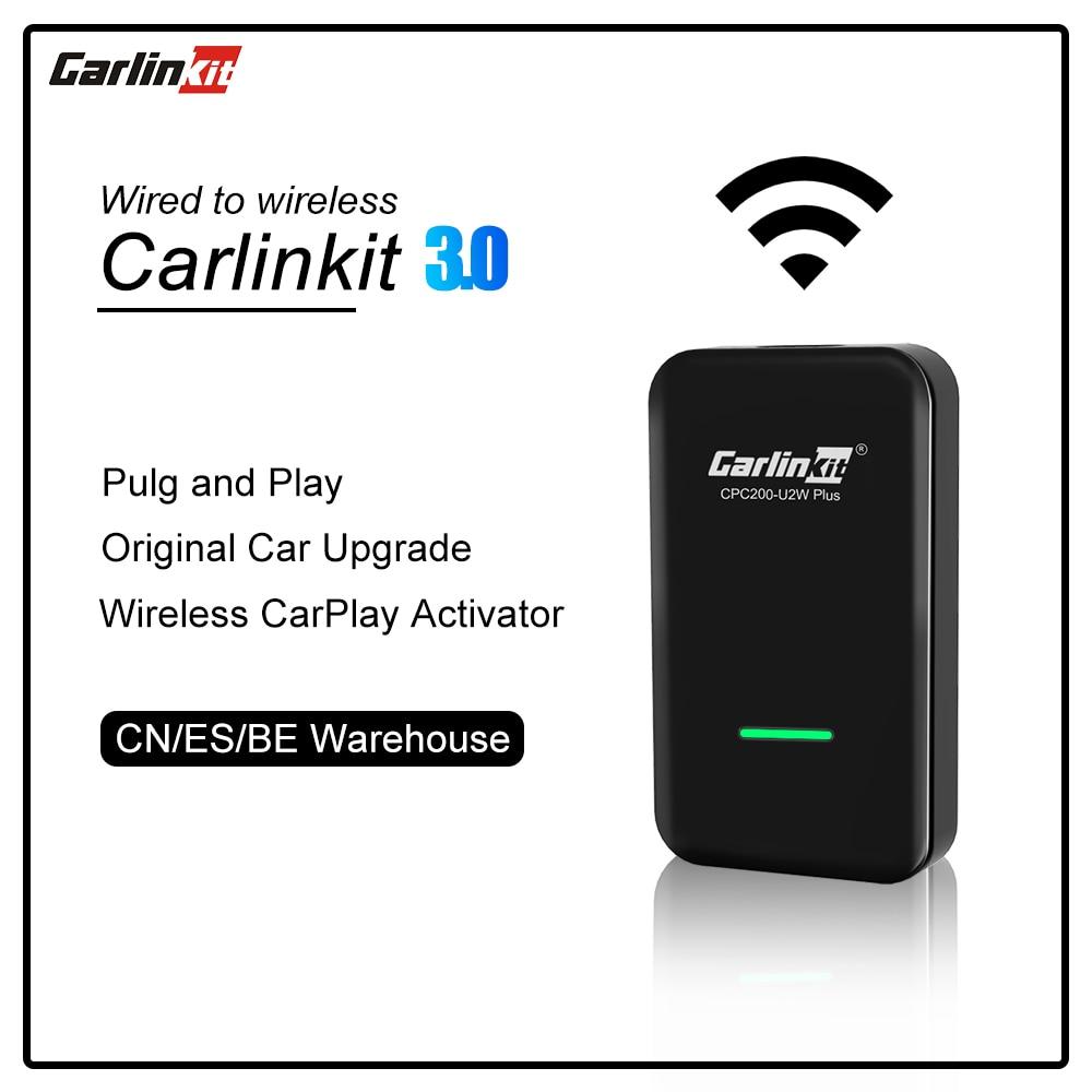 Carlinkit 3.0 سلك كابل إلى سماعة لاسلكية تعمل بالبلوتوث CarPlay محول سيارة مشغل وسائط متعددة ترقية الأصلي التوصيل والتشغيل MP3 MP4 MP5