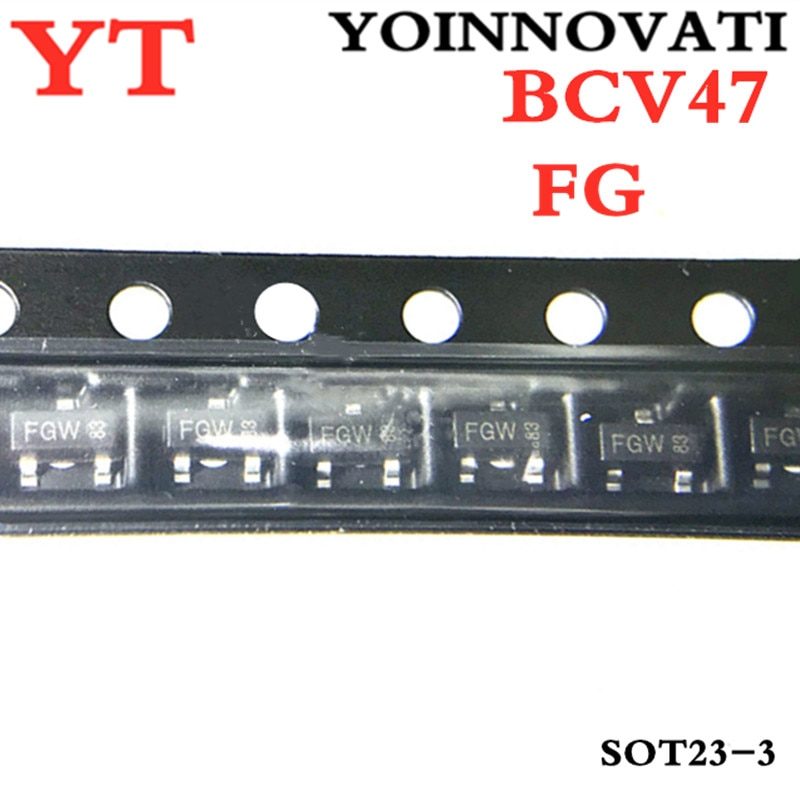 50 unids/lote BCV47 FG 60V 500mA NPN SOT-23 IC