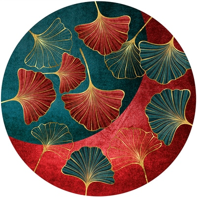 جديد النمط الصيني السجاد الأحمر ورقة الطيور آرت ديكو غرفة المعيشة غرفة نوم المنزل عدم الانزلاق الكلمة حصيرة