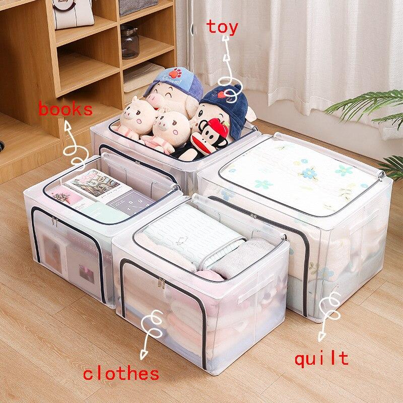 المنزل للطي النايلون شبكة صندوق تخزين الملابس لحاف أشتات اللعب الملابس الداخلية عبوة تعبئة