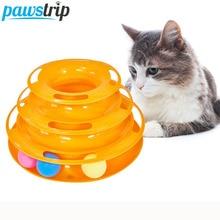 3 seviyeleri Pet kedi oyuncak kule parçaları disk interaktif kedi oyuncak top eğitim eğlence plaka kedi Tracks oyuncaklar kediler için yavru jouet
