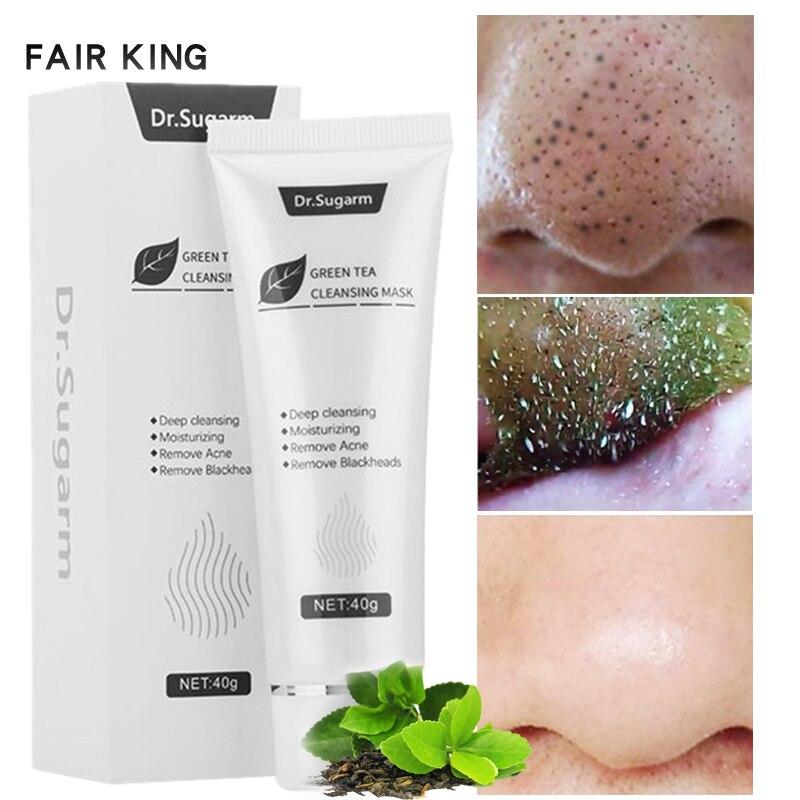 40g dr. sugarm chá verde máscara de cravo cuidados com a pele remover acne nariz poros de limpeza profunda tira hidratante máscara de casca tslm1