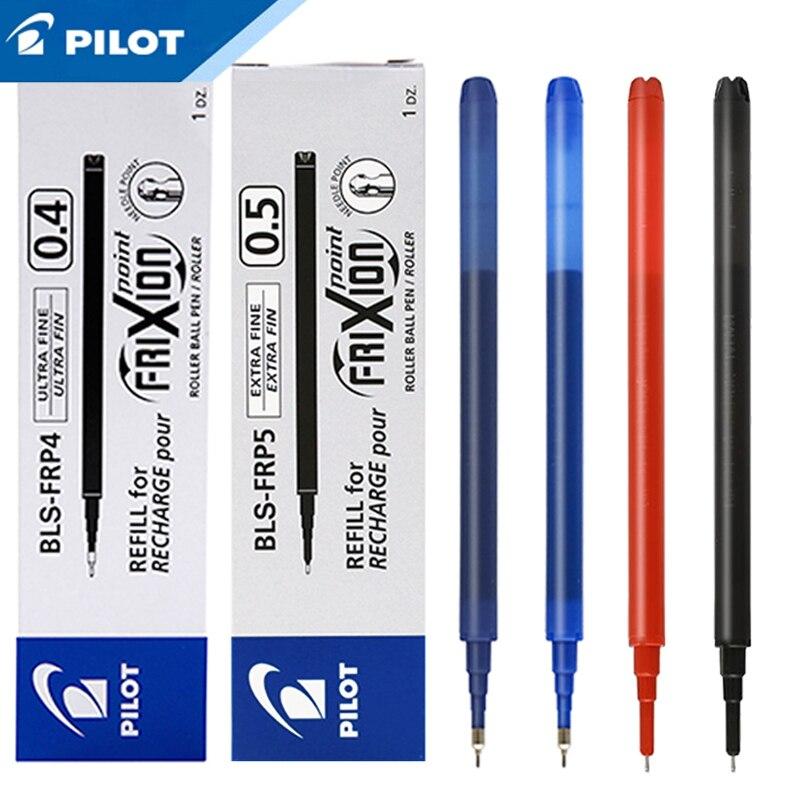 12 uds/lote Pilot BLS-FRP4/FRP5 FriXion recarga para tinta de Gel de BL-FRP5 0,4/0,5mm bolígrafo de fricción recarga tubo de aguja suministros de oficina