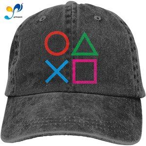 Play Station Joypad Washed Dad Baseball Caps Adjustable Mens Womens Denim Hats