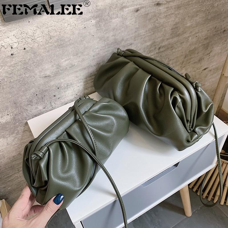 Women Simple Dumplings Messenger Bag Designer Retro 2019 New Fashion Cloud Female Crossbody Shoulder Bag Tide Handbag Clutch Bag