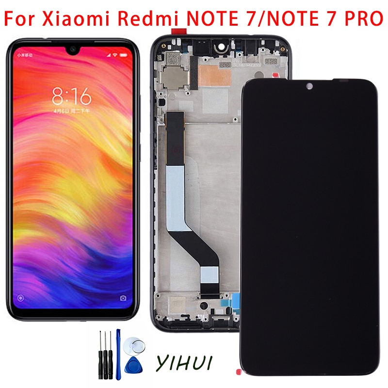 10-Touch AAA Quality LCD+Frame For Xiaomi Redmi Note 7 LCD Display Screen Replacement For Redmi Note 7/7 Pro LCD Touch original lcd frame for xiaomi redmi 5a lcd display screen replacement for redmi 5a screen digiziter assembly aaa quality