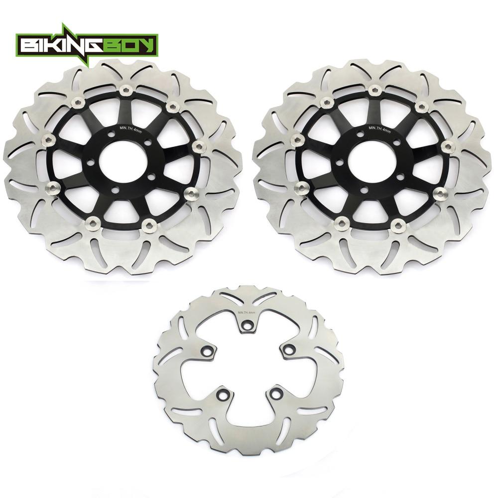 Bikingboy discos de freio traseiro dianteiro rotores para suzuki gsf 1200 bandit/s 96-05 gsx 1200 fs 98-02 rf900r 94-99 gs1200ss 01-02