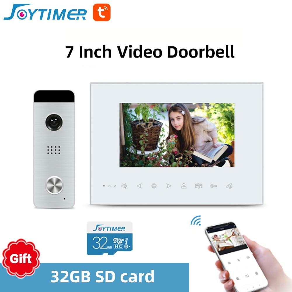 Joytimer Video Intercom With Lock Wired Video Door Bell AHD Ultra-thin Doorbell Camera For Home Video Door Phone Intercom enlarge