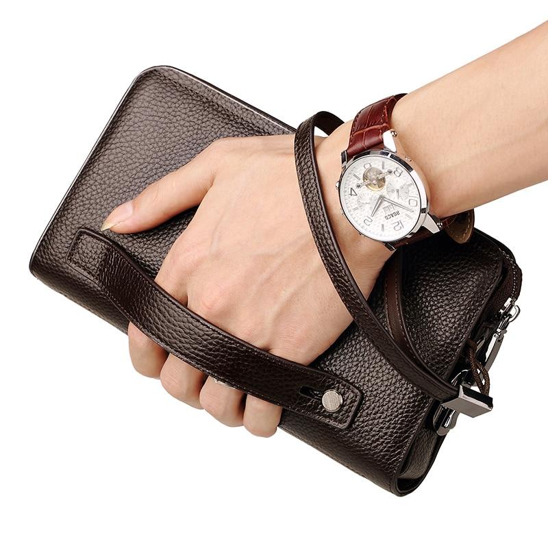 Купить с кэшбэком WILLIAMPOLO     Brand   Wallet   With   Coded Lockt  Business  Man  Mens   Handbag