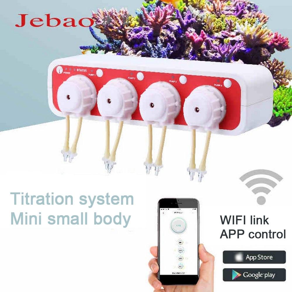 JEBAO Wifi, bomba de medición de dosificación DOSER3.4, Acuario de alta precisión 2 en 1, máquina de bomba de infusión de Control Manual automático