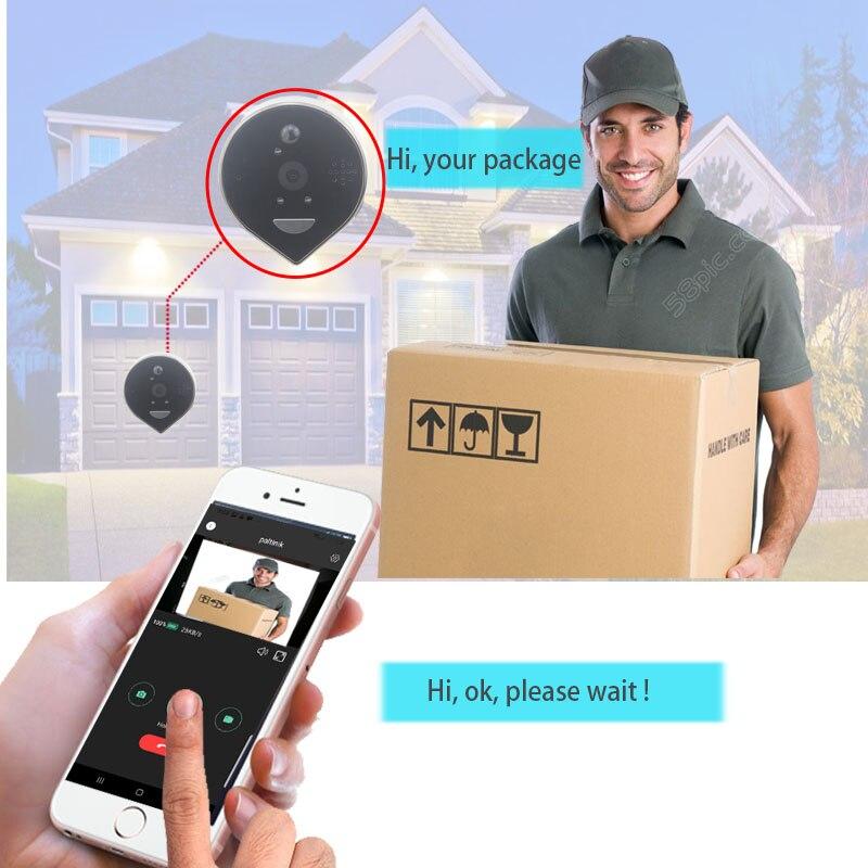 Doorbell Camera WiFi Video Peephole Intercom Doorbell 4.3