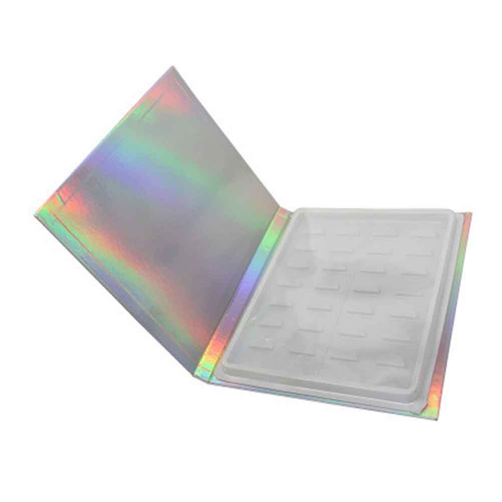 16 pares de catálogo de muestra organizador de almacenamiento de pestañas sin pestañas postizas herramientas de maquillaje caja cosmética para el hogar contenedor de tarjeta de visualización