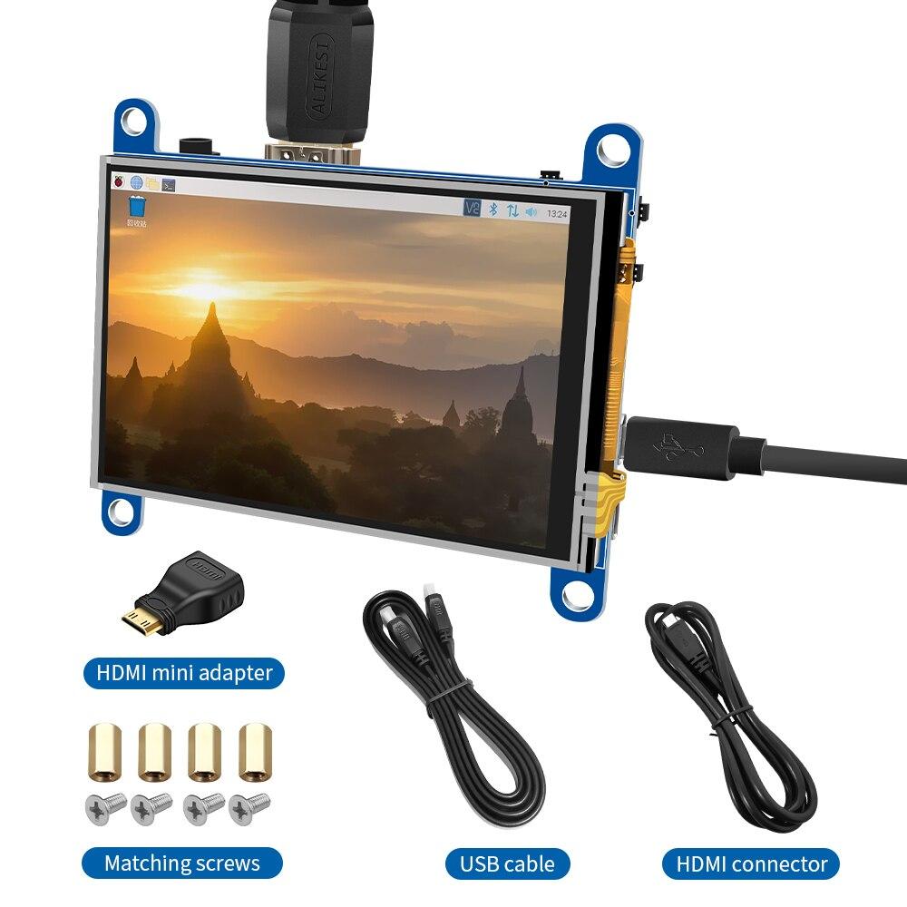 3.5 بوصة مقاومة شاشة عرض LCD تعمل باللمس HDMI وحدة 480x320 لتوت العليق Pi 3 Pi4 شاشة كمبيوتر شخصي ثلاثية الأبعاد طابعة orange pi