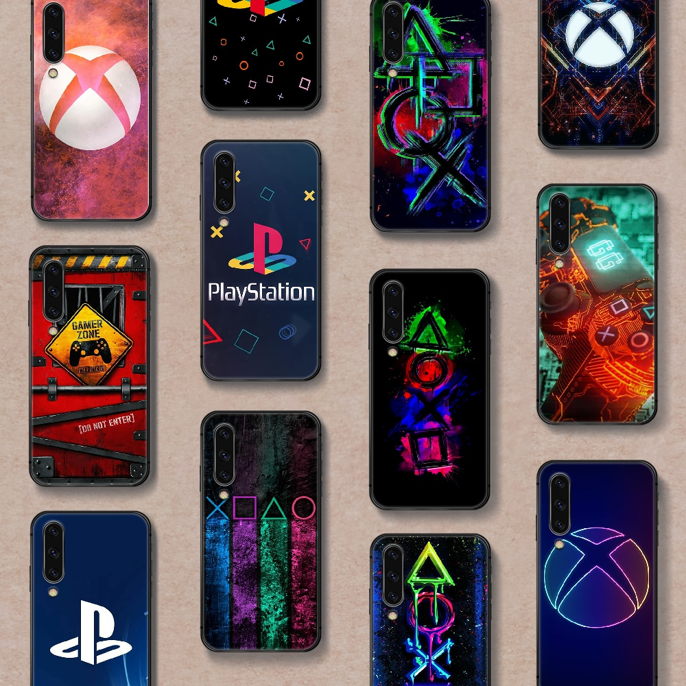 PlayStation Buttons PS Xbox Phone Case Cover For Samsung Galaxy A10 A11 A20 E A21 A30 A40 A41 A50 A51 A70 A71 A81 S black Back