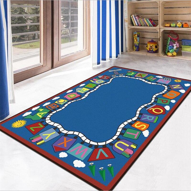 Детские коврики для игры-пазлов, противоскользящие напольные коврики, 3D ковер, нескользящий ковер для столовой, гостиной, мягкий детский ко...