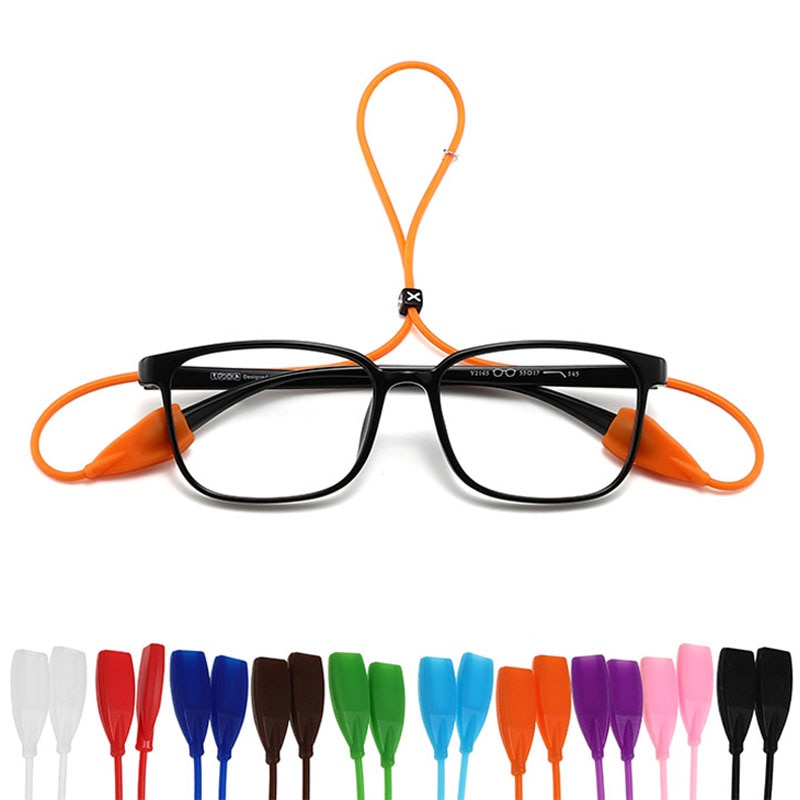 Candy Color Elastic Silicone Glasses Ropes Band Eyeglasses Straps Sunglasses Chain Sports Anti-Slip