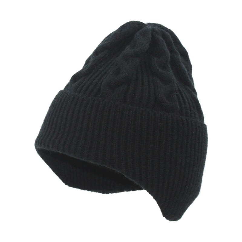 Hat women autumn and winter wild thick pure color wool cap ins European and American fashion ear pro
