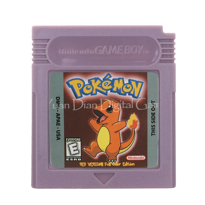Cartucho de consola de videojuegos para Nintendo GBC, serie Poke, VERSIÓN ROJA, edición A todo Color, versión en inglés