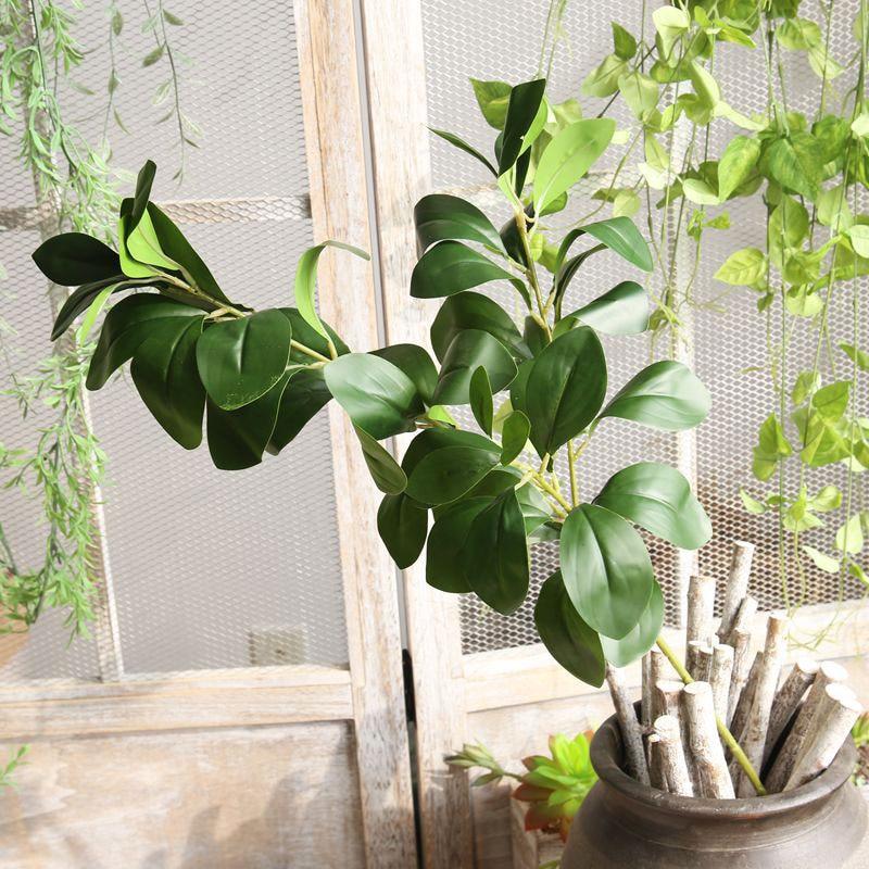 80CM Large Artificial Milan Plant leaves Fake Eucalyptus Silk False Leafs Green Simulation Tree Foliage For Garden Home Decor