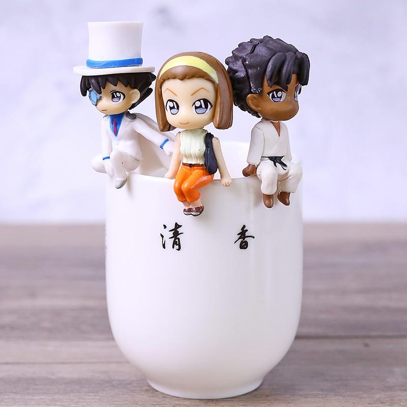 PUTITTO serie nuevo Detective Conan figura completa Gashapon coleccionable mascota juguetes 6 unids/set