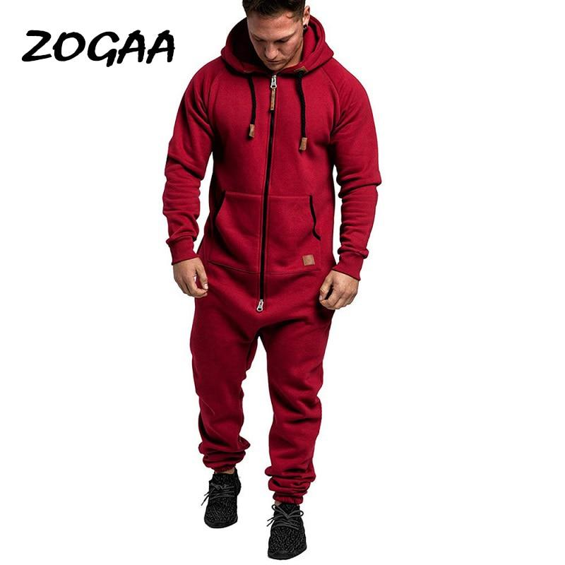 ZOGAA-طقم بدلة رياضية كاجوال للرجال ، بدلة رياضية بقلنسوة ، لون سادة ، مقاس كبير ، أنيق ، جديد للشتاء