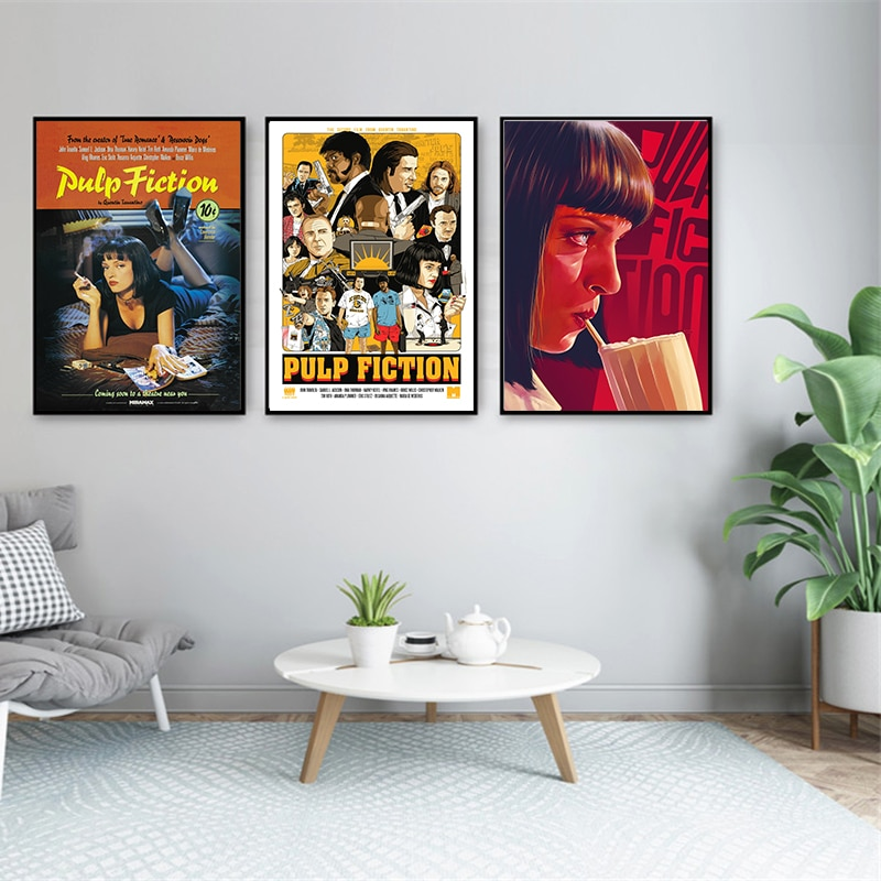 quentin-tarantino-fiction-poster-classic-movie-poster-art-print-painting-modern-wall-picture-home-decor-decorative
