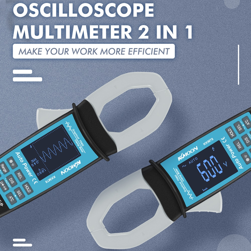 KKMOON KKM78 Digital Multimeter Professional Tester  Clamp Meter Display Multimeter Oscilloscope Current Waveform Measure