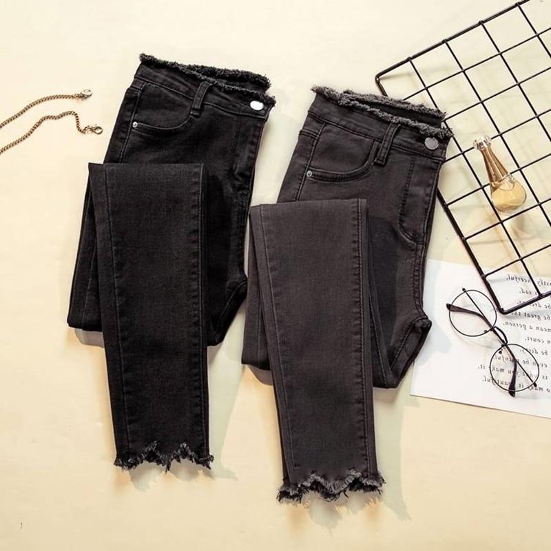 Женские джинсы 2019, джинсовые брюки, женские джинсы черного цвета, женские Стрейчевые брюки, женские облегающие брюки для женщин, брюки