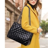 2021 new high end cracked first layer cowhide ladies one shoulder diamond bag leather large capacity one shoulder tote bag