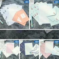 kawaii and cute korean stationery letter envelope paper creative aesthetic little fresh fragrance paper envelope letter set