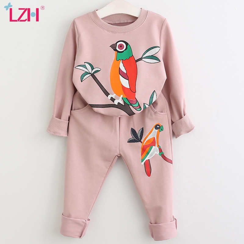 LZH Girls Clothing Sets Autumn Spring Toddler Girls Clothes Kids Tracksuit For Girl Suit Costume Children's Clothing 3 6 7 Year