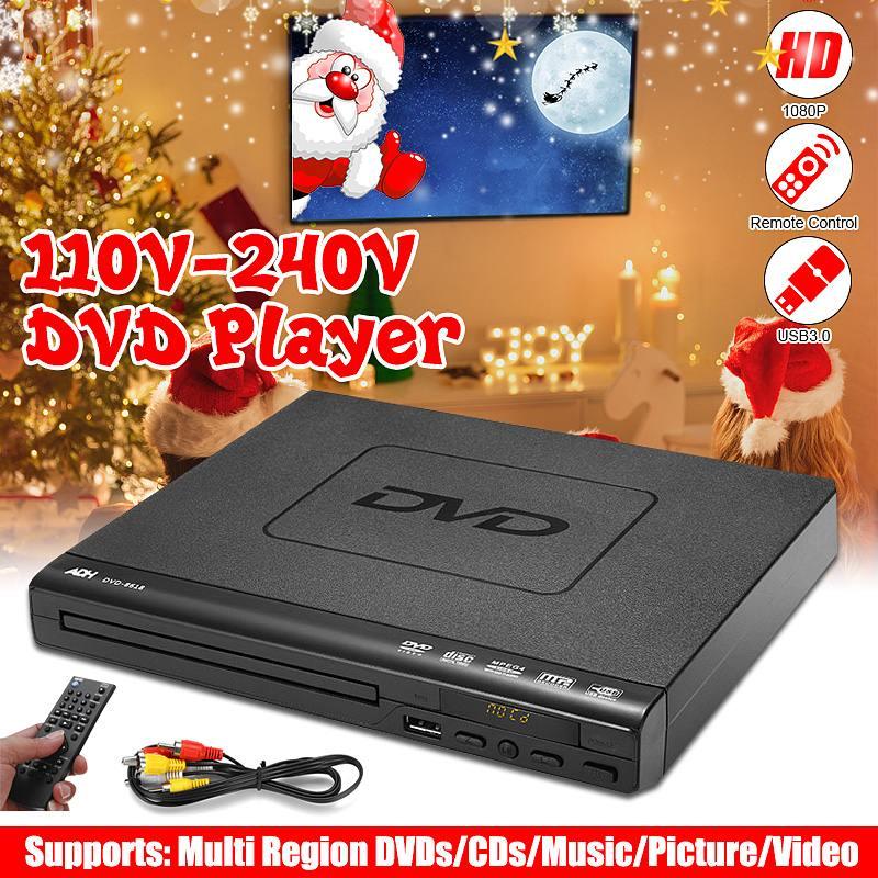 110 В-220 в мини dvd-плеер USB HD Портативный многократное воспроизведение ADH DVD CD SVCD VCD MP3 диск светодиодный дисплей плеер Домашний кинотеатр систем...