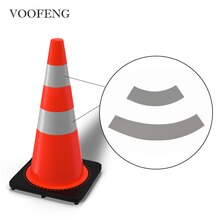 1Set=2Pcs DIY High Visibility Reflective Fabric Sticker for Road Traffic Cone