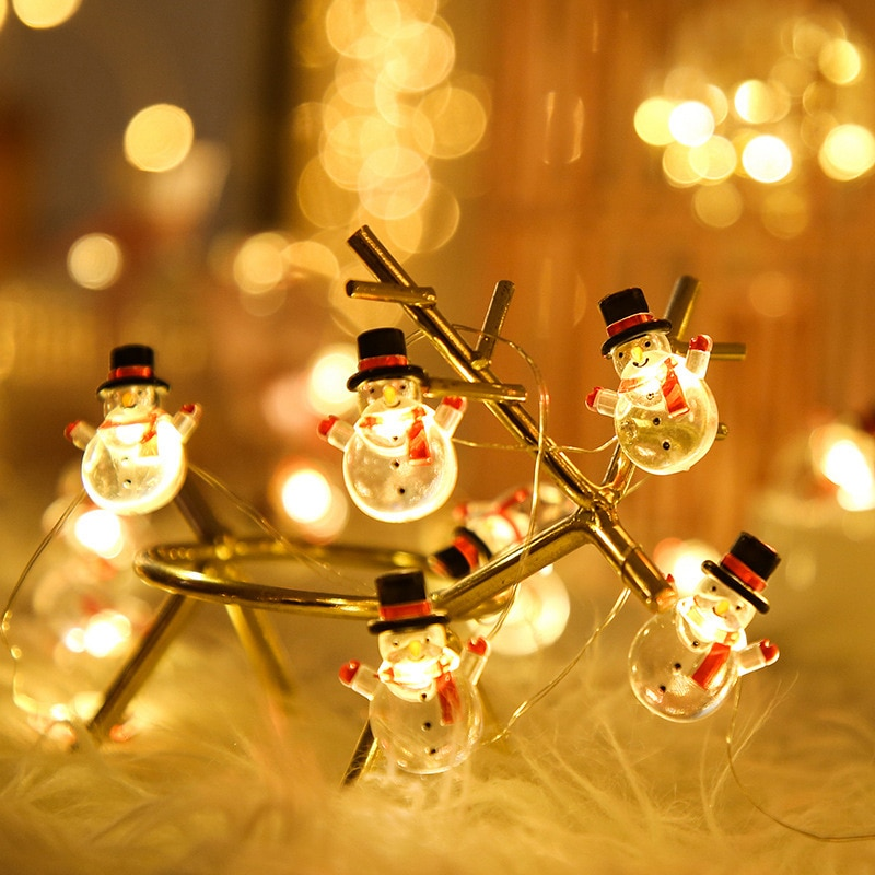 String lights LED Christmas copper wire lights string battery style outdoor indoor bedroom window Christmas decoration 1pcs