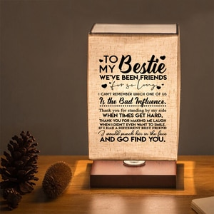 Give my best friend's book lamp, bedside lamp, print the best gift for meaningful content.