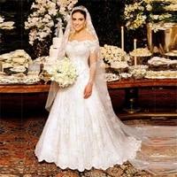 nuoxifang robe de mariage off shoulder long sleeve lace wedding dresses a line romantic sale bridal dress vestidos de noiva 2020