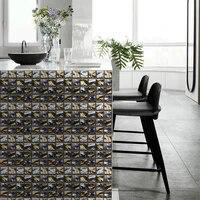 Autocollant 3D mural de cuisine   20 pieces  decor de cuisine  salle de bain  mur de maison  pratique durable  mode domestique