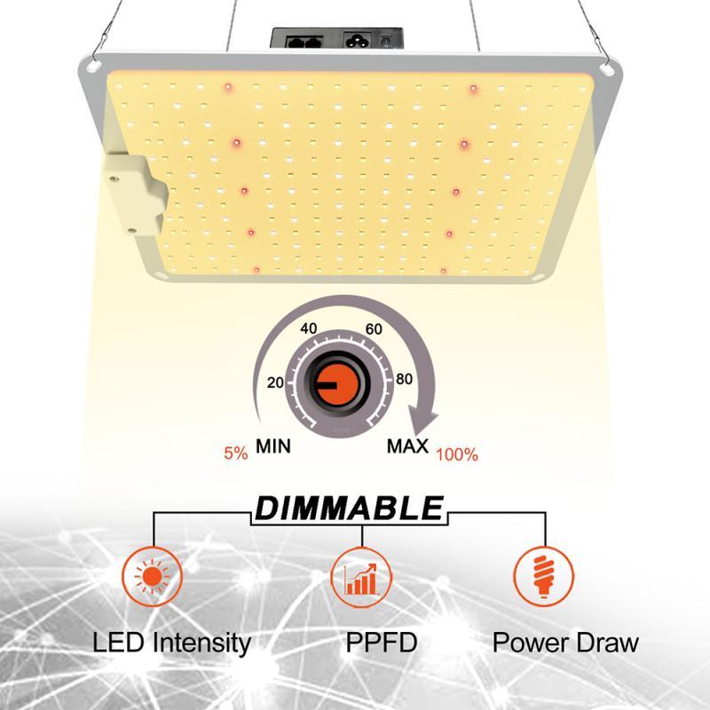 3000K + wifi الطيف الكامل مصباح 1000 واط لوحة إضاءة متنامية ضوء النبات لمبة الصوبات المنزلية داخلي مصباح فيتو تنمو خيمة النمو أضواء HWC