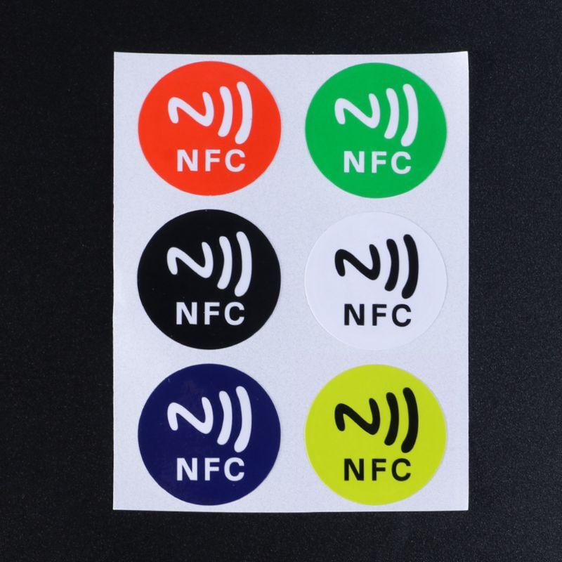 Material impermeable para mascotas NFC pegatinas adhesivas inteligentes Ntag213 etiquetas para todos los teléfonos