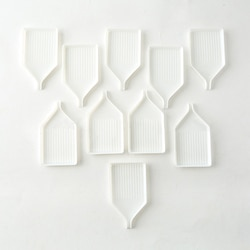 10 pçs branco portátil cruz-ponto acessório diy arte artesanato bordado ferramentas placa de diamante plástico 5d pintura prego diamante bandeja