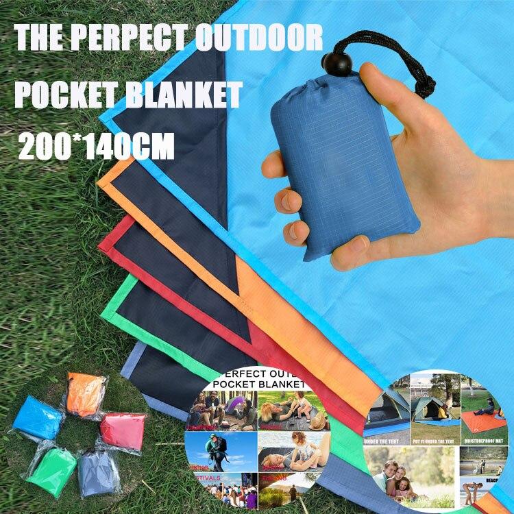 Estera para acampar al aire libre, estera impermeable a prueba de arena para playa, cojín de lujo, estera de Picnic a prueba de agua 200*140cm, mantas para mascotas domésticas
