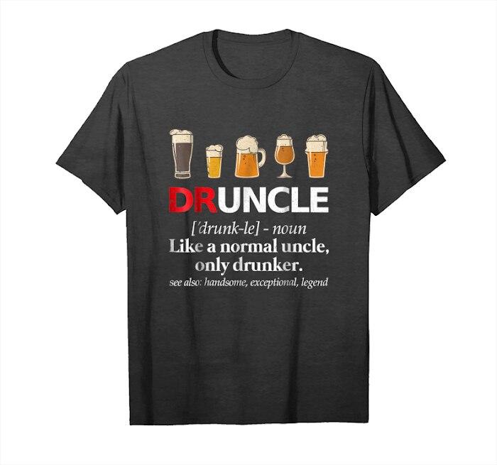 Camiseta unissex engraçado do tio t da cerveja de druncle da definição da tendência para o tio