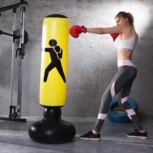 Bolsa de boxeo inflable Vertical para entrenamiento, bolsa de boxeo de PVC para espesamiento, herramienta de entrenamiento
