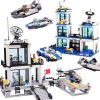 city police station prison trucks building blocks car boat helicopter bricks children diy assemble police station blocks toys