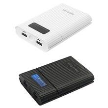18650 зарядное устройство двойной выход USB Анти обратный 18650 батарея DIY банк питания коробка с ЖК дисплеем светодиодный светильник лампа X6HB