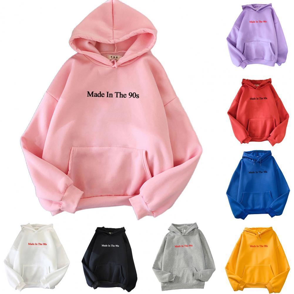 Женские толстовки большого размера на осень-зиму 2021, женские свободные однотонные плотные теплые толстовки, женский модный пуловер с карма...