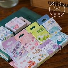 50 teile/paket Nette Blume Einhorn Poster Mini Papier Aufkleber Dekoration Tagebuch Scrapbooking Label Aufkleber Schreibwaren