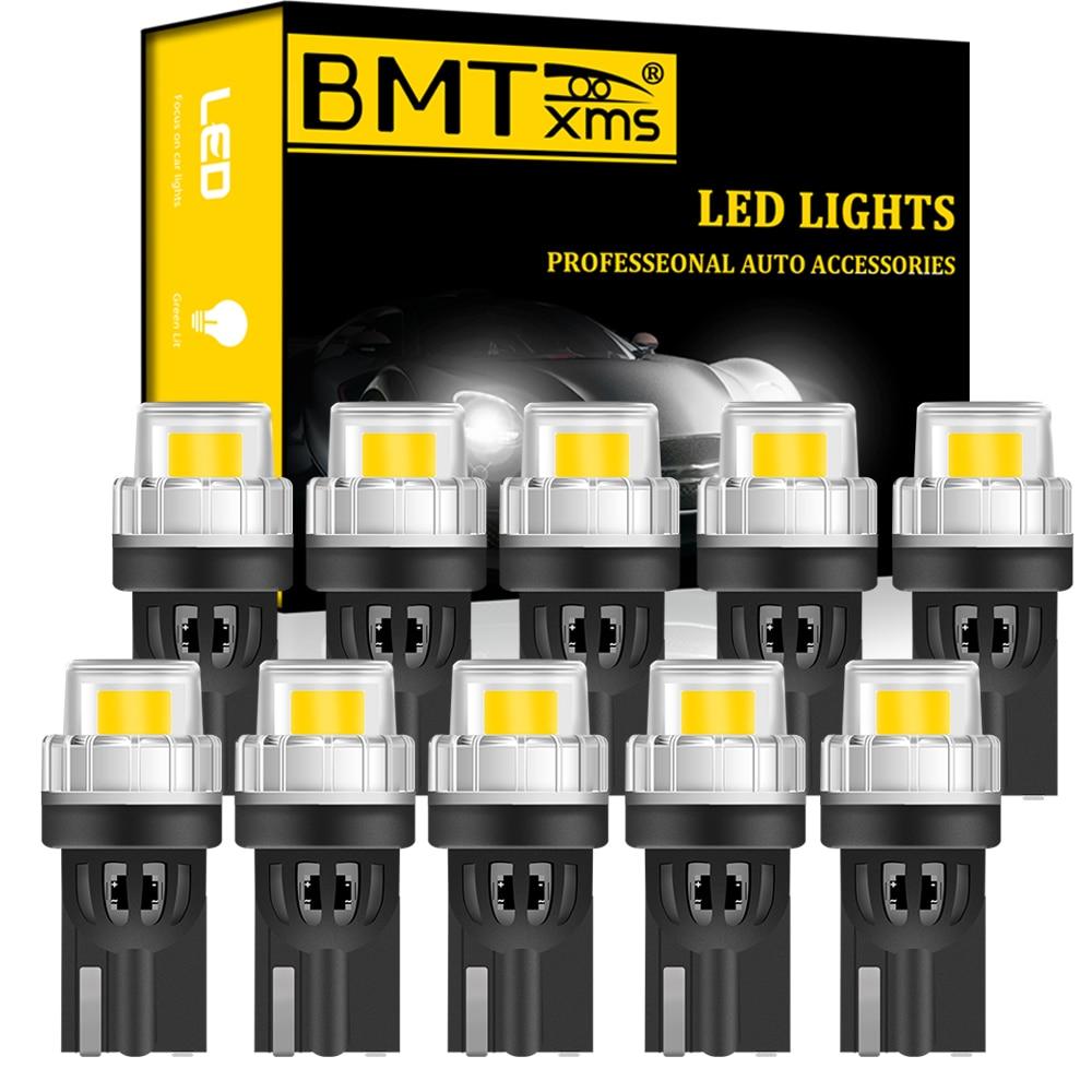 BMTxms 10x Canbus para VW Audi BMW Mercedes, luz de techo Interior de coche, luz de maletero, luces de estacionamiento W5W T10, bombillas LED sin errores
